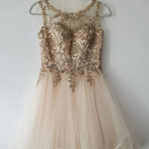 Gold and champaign dress